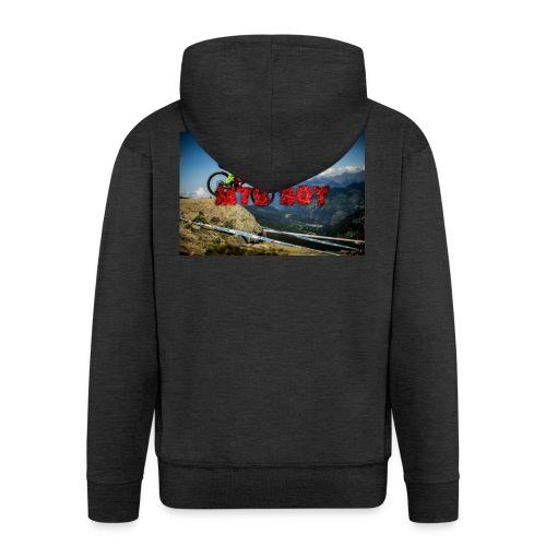 mtb boy clothes - Men's Premium Hooded Jacket