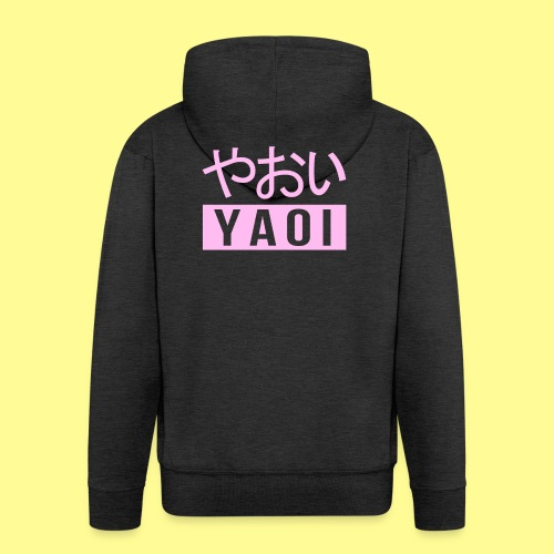 Pink Yaoi やおい - Felpa con zip Premium da uomo