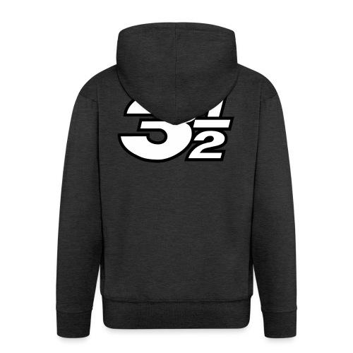 Three and a Half Logo - Men's Premium Hooded Jacket