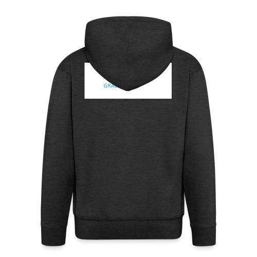 kim jesteś - Rozpinana bluza męska z kapturem Premium