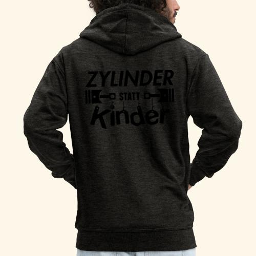 Zylinder Statt Kinder - Männer Premium Kapuzenjacke