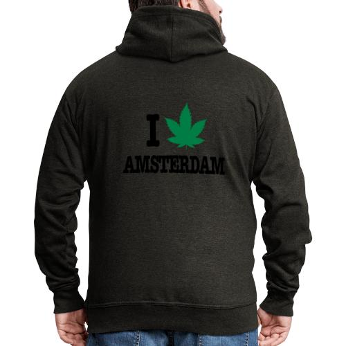 I CANNABIS AMSTERDAM - Männer Premium Kapuzenjacke