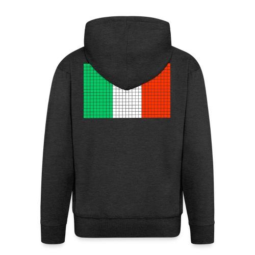 italian flag - Felpa con zip Premium da uomo