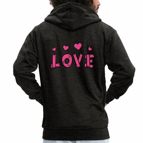 Love tuoteperhe - Miesten premium vetoketjullinen huppari