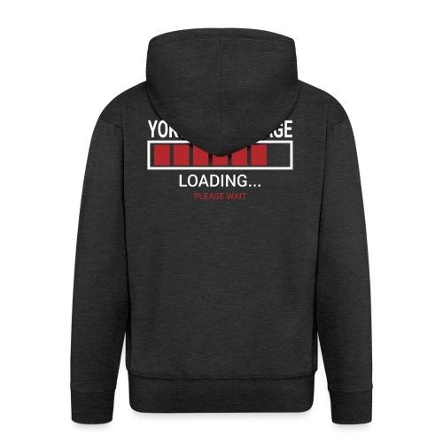 Yoko Tomoe Nage loading... pleas wait - Rozpinana bluza męska z kapturem Premium