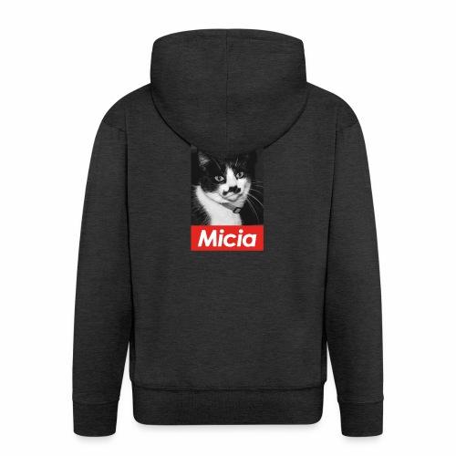 Micia - Felpa con zip Premium da uomo