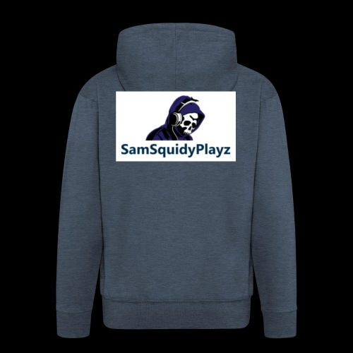 SamSquidyplayz skeleton - Men's Premium Hooded Jacket
