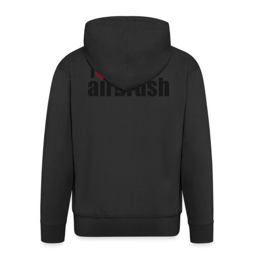 I Love airbrush - Männer Premium Kapuzenjacke