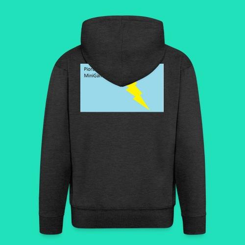Koszulka Dla Dzieci PiorunoCraft - Rozpinana bluza męska z kapturem Premium