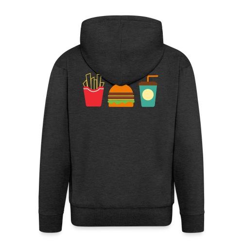 Fast Food - Felpa con zip Premium da uomo