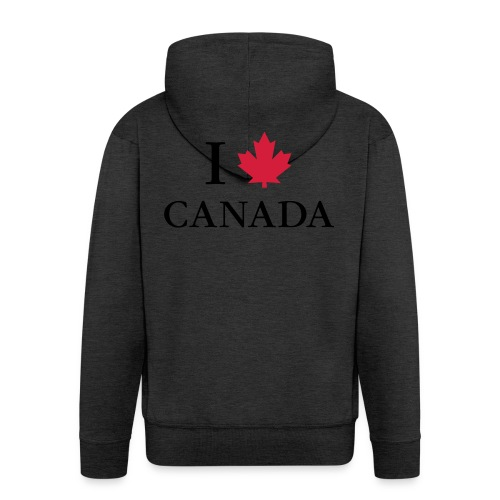 I love Canada Ahornblatt Kanada Vancouver Ottawa - Men's Premium Hooded Jacket