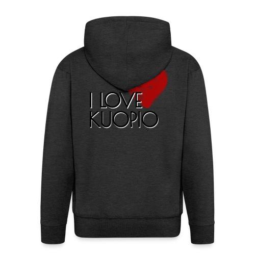 I LOVE KUOPIO 2020 - Miesten premium vetoketjullinen huppari