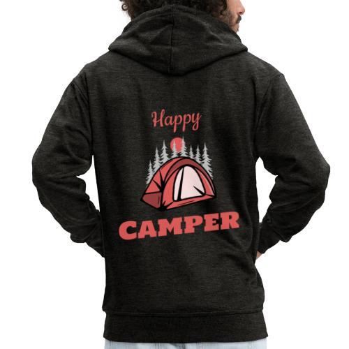 Happy Camper - Männer Premium Kapuzenjacke