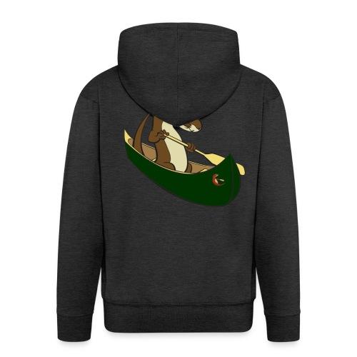 greencanoewithsticker - Men's Premium Hooded Jacket