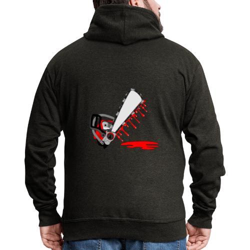 T shirt humeur tronçonneuse en sang votre texte FC - Veste à capuche Premium Homme