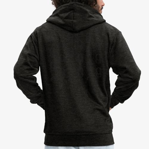 kaktus2 - Rozpinana bluza męska z kapturem Premium