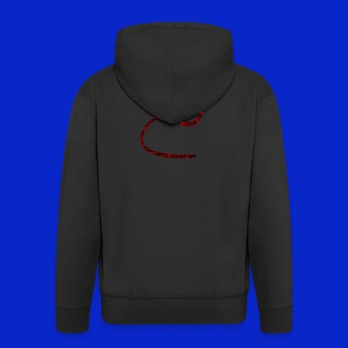 Jonny C Red Handwriting - Men's Premium Hooded Jacket