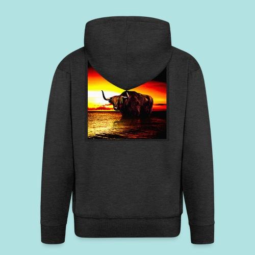 Wandering_Bull - Men's Premium Hooded Jacket