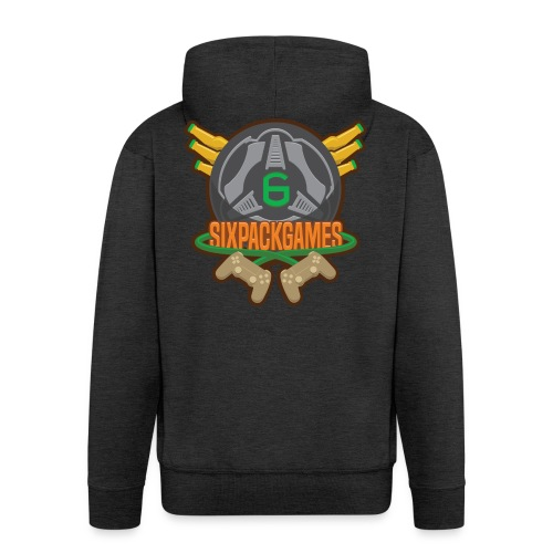 Sixpack Games Logo - Men's Premium Hooded Jacket