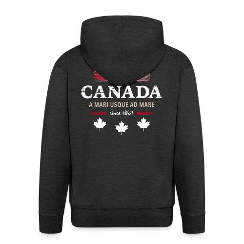 Canada Kanada Amerika maple leaf Flagge Fahne - Men's Premium Hooded Jacket
