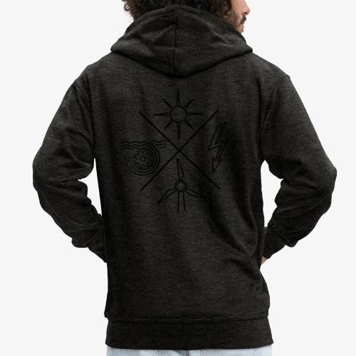 Pullover mit Logo in schwarz (ohne Schriftzug) - Männer Premium Kapuzenjacke
