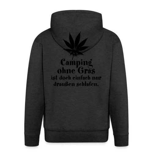 Camping Gras kiffen Marihuana Zelt Cannabis Joint - Men's Premium Hooded Jacket