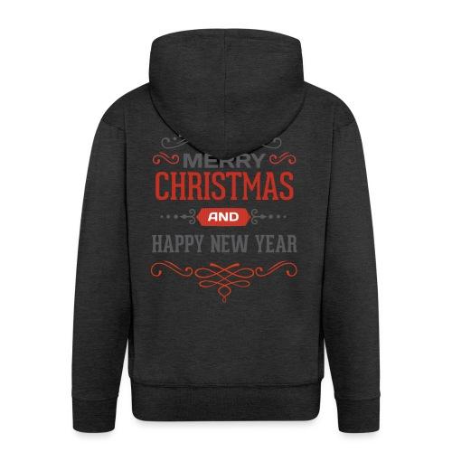 Joyeux Noël et Bonne Année - Veste à capuche Premium Homme