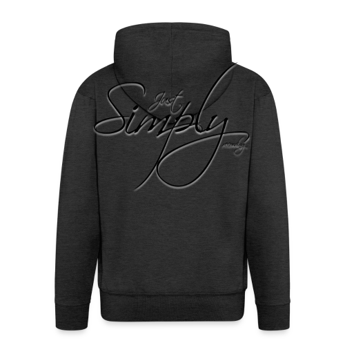 Just Simply Logo black // back - Männer Premium Kapuzenjacke