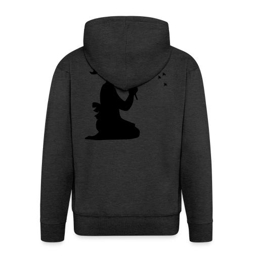 Koszulka blowing - Felpa con zip Premium da uomo