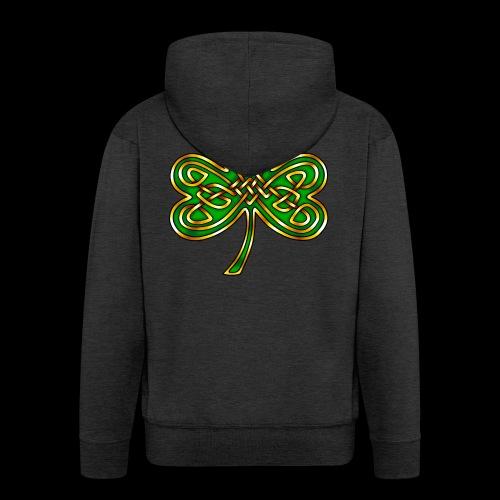 Celtic Knotwork Shamrock - Men's Premium Hooded Jacket