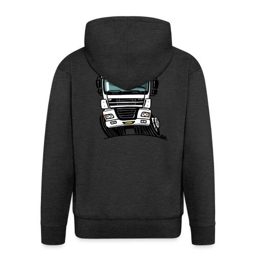0810 D truck CF wit - Mannenjack Premium met capuchon