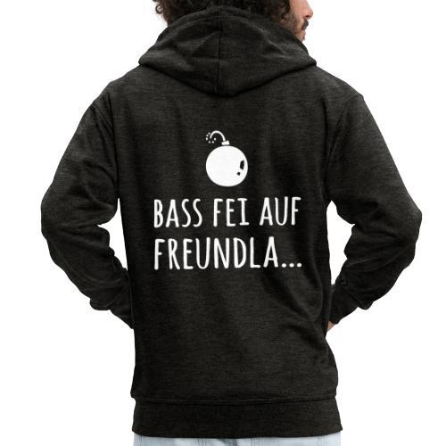 Bass fei auf Freundla - Männer Premium Kapuzenjacke