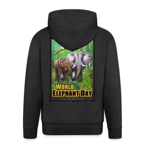 Welt-Elefanten-Tag 12. August 2019 - Männer Premium Kapuzenjacke