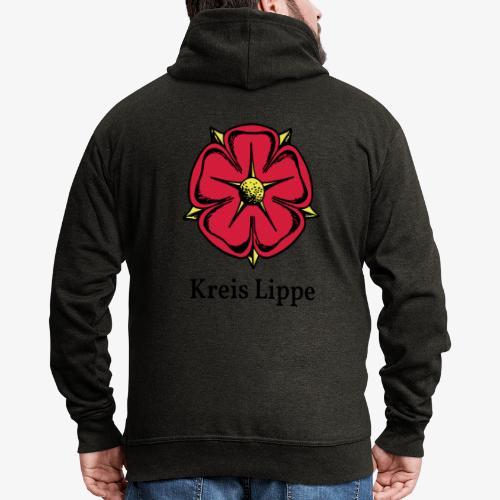 Lippische Rose mit Unterschrift Kreis Lippe - Männer Premium Kapuzenjacke