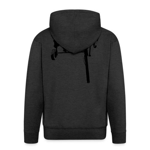 trailed plow - Men's Premium Hooded Jacket