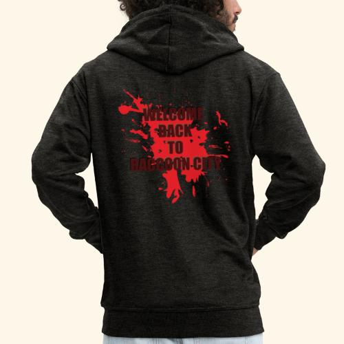 Welcome Back to Raccoon City TEXT 01 - Men's Premium Hooded Jacket