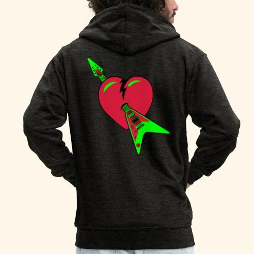 music heart - Chaqueta con capucha premium hombre