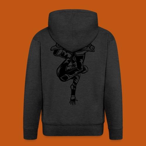 Skater / Skateboarder 03_schwarz - Männer Premium Kapuzenjacke