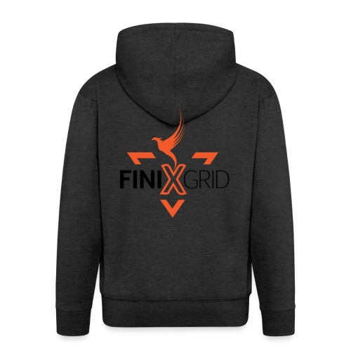 FinixGrid Orange - Men's Premium Hooded Jacket