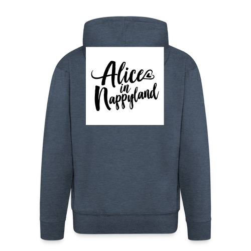 Alice in Nappyland Typography Black 1080 1 - Men's Premium Hooded Jacket