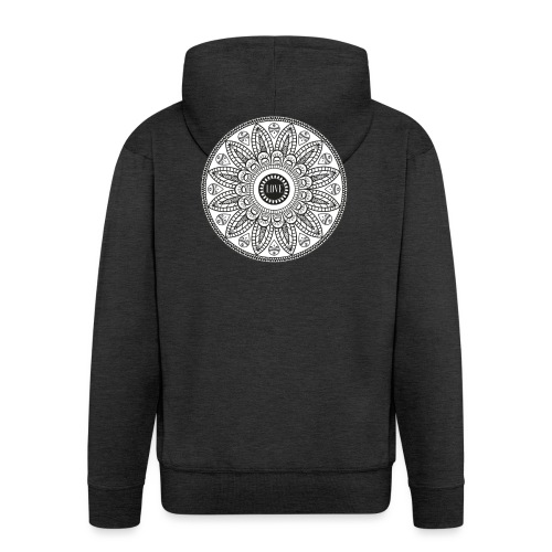 Mandala mit Schriftzug Love - Männer Premium Kapuzenjacke