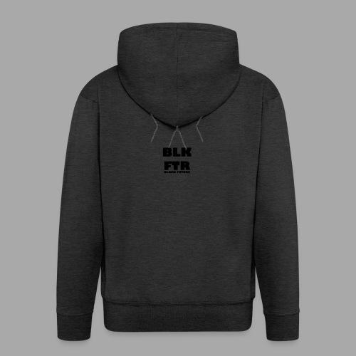 BLK FTR N°4 - Felpa con zip Premium da uomo