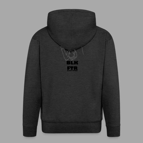 BLK FTR N°6 - Felpa con zip Premium da uomo