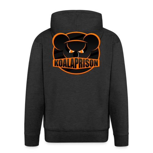 Koala Prison Logo - Men's Premium Hooded Jacket