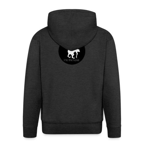 logo_intothehorse - Felpa con zip Premium da uomo