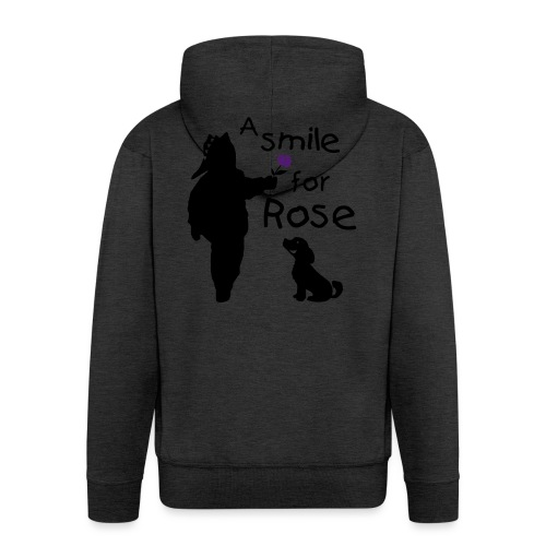 A Smile for Rose - Felpa con zip Premium da uomo