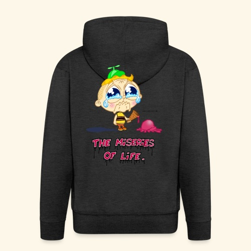 The Miseries of Life Eiscreme Eis Kind - Männer Premium Kapuzenjacke