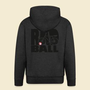 Radball | Typo Black - Männer Premium Kapuzenjacke