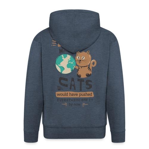 IF THE EARTH WAS FLAT - Premium Hettejakke for menn
