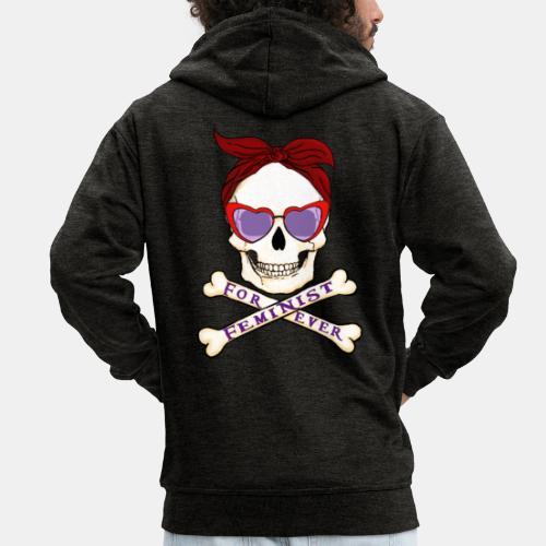 Feminist skull - Chaqueta con capucha premium hombre